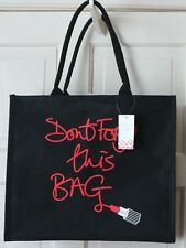 Limited Edition LULU GUINNESS FOR TESCO LARGE SHOPPING JUTE BAG