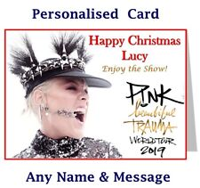 PINK Concert Trauma Tour Concert Show Ticket Wallet - Card Birthday or Christmas