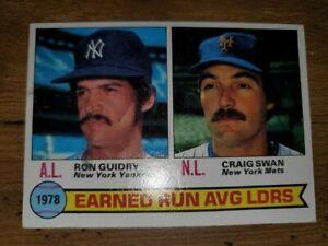 1979 Vintage Topps # 7 ERA Ldrs Guidry Swan EX-NM(slight scratch) FAST FREE SHIP