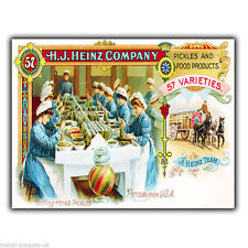 HEINZ PICKLES AND FOOD METAL SIGN WALL PLAQUE PRINT Retro Vintage poster Advert