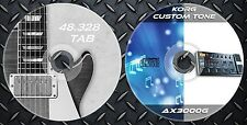 300 Patches Korg AX3000G Multi Effects Processor. & 48.328 Guitar Tablature