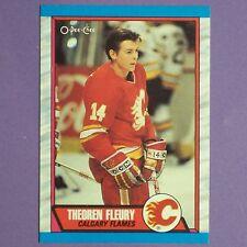 1989-90 O-Pee-Chee OPC #232 Theoren Fleury RC Rookie Card Calgary Flames