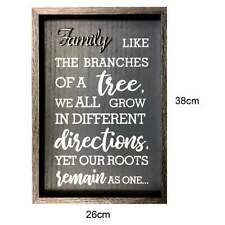 MDF Plaques for Family Frame Letters Decor Home Office Gift