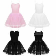 Girls Ballet Dress Gymnastics Dancewear Leotard Kids Dance Tutu Costume
