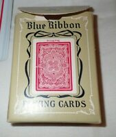 BLUE RIBBON PLAYING CARDS 323 VINTAGE ROSETTE Red  linen finish
