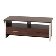 Modern TV Stand / Entertainment Unit with Drawers - Walnut / Chrome ZAS33723560