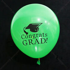 8x quality green red GRADUATION latex balloon party celebration decoration p