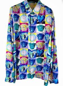 Versace Medusa Andy Warhol Silk Shirt