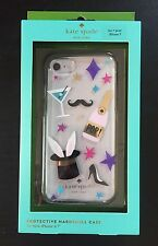KATE SPADE MAGIC PATCHES Hardshell Case Cover iPhone 7 NIB Champagne Rabbit
