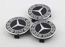 4 PCS 75mm Wheel Center Hub Caps Cover Badge Emblem For Mercedes Benz