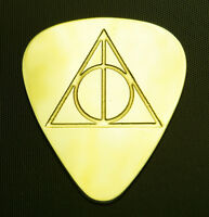 DEATHLY  HALLOWS - Solid Brass Guitar Pick, Acoustic, Electric, Bass