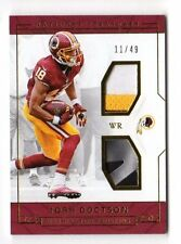 JOSH DOCTSON NFL 2016  NATIONAL TREASURES ROOKIE DUAL MATERIALS GOLD (REDSKINS