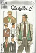 Simplicity Pattern #8785-Men's Accessories Ties-Bow Ties-Ascot-Scarf