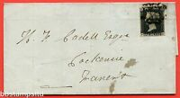 "SG. 2 bb. A1 (2) f. AS5 d. "" EK "". 1d black. Plate 1b. A fine used example."
