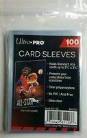 100 ULTRA PRO CARD SLEEVES NO PVC SOFT CLEAR PENNY, MAGIC, BASEBALL, POKEMON