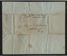 1836 folded, stampless Fall River MA military orders to Major David Holman