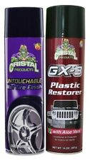 Cristal Products Untouchable Wet Tire Finish Bundle with GX-3 Plastic Restorer