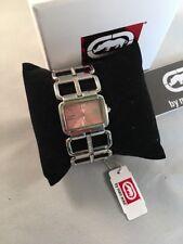Marc Ecko Rhino Women's Buckle Up Crystal Watch E8M128MV NWT