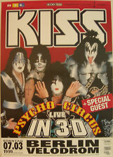KISS CONCERT TOUR POSTER 1999 PSYCHO CIRCUS