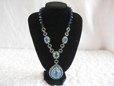 """HEIDI DAUS """"Royal Elegance"""" (Blue-Colorway) Beaded Drop Necklace (Orig.$399.95)"""