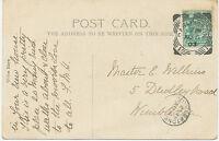 "GB ""DARLINGTON / 1"" Squared Circle Postmark rare used as transit postmark RRR!"