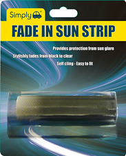 Simply FAD01 Fade In Sun Strip for Car / Van Front  Window Windscreen Self Cling