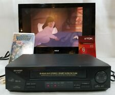 Sharp VC-H810U VHS Hi-Fi Stereo VCR 4-Head Video Cassette Recorder/Player + Tape