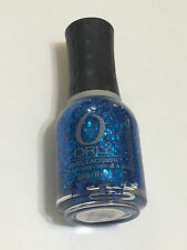 NEW ORLY NAIL POLISH IN SPAZZMATIC TURQUOISE BLUE SHIMMER GLITTER  FULL SZ 18ML