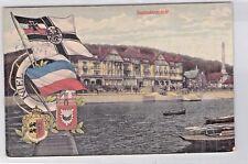 SELTEN alte color. Foto AK 1911@Kiel Seebadeanstalt@ + Litho Fahne Wappen Flagge