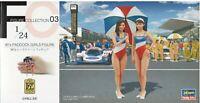 Hasegawa 1/24 FC03 (29103) 90's Paddock Girls Figure (2 Figures)