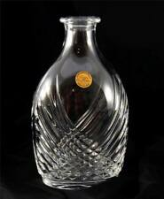 Beautiful Cristal de France 24% Lead Crystal Vase Decanter Carafe Mint Glass 8""