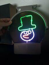 Christmas Snowman Clown Neon Light Sign Window Display Hanging Artwork 9×8 New