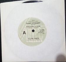 "DAVE STEWART WITH BARBARA GASKIN - IT'S MY PARTY 7"" SINGLE AUSTRALIA"