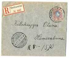 Finland under Imperial Russia Small R Cover Hankasalmi - Hameenlinna 1914