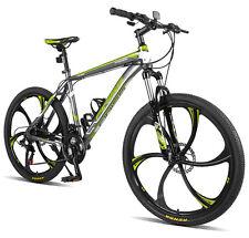 "Merax Finiss 26"" Aluminum 21 Speed Mg Alloy Wheel Mountain Bike Gray&Green"