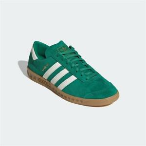 Adidas Hamburg Trainers Green White Gum Authentic Brand New
