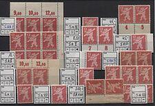 SBZ 5 großes Lot Plattenfehler ex I-XVII 14 Werte postfrisch (B04613)