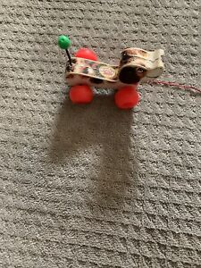 VINTAGE 1965 Fisher Price Little Snoopy Pull Along Dog Toy #2034  Made In USA