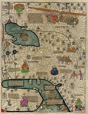 Mapamundi Abraham Cresques Catalan Atlas World Wall Map 1375 Mapamondi Poster