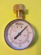 "New listing Water Test Gauge, 3/4 Garden Hose Thread, 2-1/2"" face, ProFlo Pfwg300L, <300 psi"