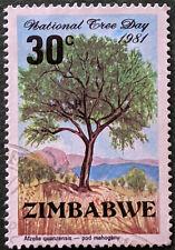 Stamp Zimbabwe 1981 30c National Tree Day - Pod Mahogany Used