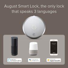 August Connect Wifi House Bridge Smart White Voice Control Door Lock Home Alert