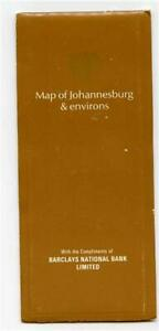 Map of Johannesburg & Environs Barclays National Bank South Africa 1970's