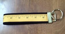 Measuring Tape Sewing wristlet key fob holder key chain Zipper Pull