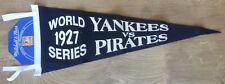MITCHELL & NESS RETRO VINTAGE 1927 YANKEES vs PIRATES WORLD SERIES WALL PENNANT