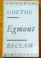 Goethe: Egmont. Reclam Universal Bibliothek DDR 1965 TB