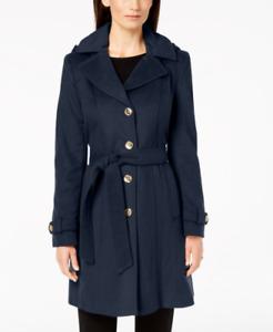 BNWT Womens Michael Kors Hooded Belted Wool Coat Blend Sapphire 2XL,XXL RRP $275