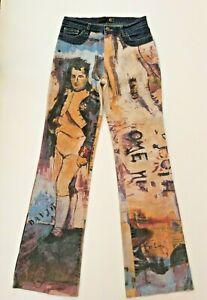 Just Cavalli  Rare Womens Vintage Jeans Napoleon print tg. 42