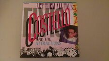 """Rare ELVIS COSTELLO & The Attractions Let them all talk + 1 French France 7"""" 45"""