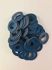 Set of 50 OEM Blue Teflon Coated Drain Plug Gaskets For Toyota 90430-12031